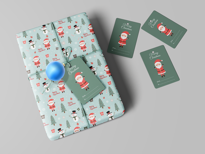Wrapping Paper For Christmas Gifts merry xmas merry christmas ice man santaclaus vector illustration modern new brand illustrator wrapping paper gift christmas xmas