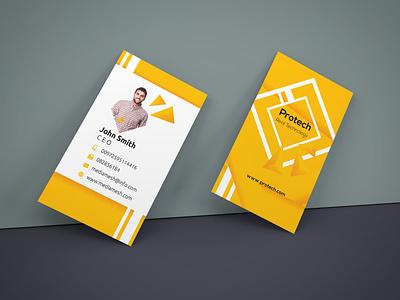 Business card adobe design card yellow photoshop businesscards illustrator