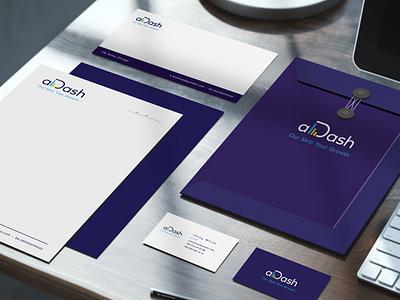 Elegant stationary photoshop letterhead busines card brand illustrator logo stationary design