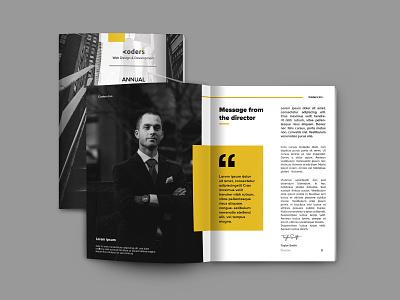 Annual report design illustrator photoshop yellow report indesign