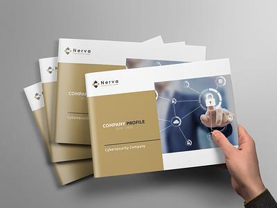 company pofile cover visual identity brand brochure design booklet design company profile indesign design