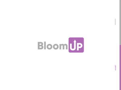 BloomUp logo creative new purple vector flat modern logo minimalist illustrator logo design