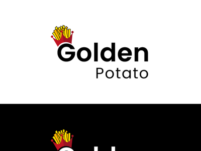 golden potato crown logo logotype logo design logo crown gold shot dribbble trend news app modern indesign photoshop vector new flat adobe brand design