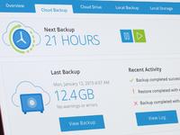 Cloud Backup Dashboard