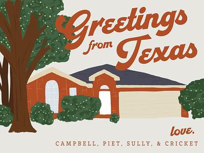 2020 Christmas Card christmas card lights seasons greetings holidays texas christmas