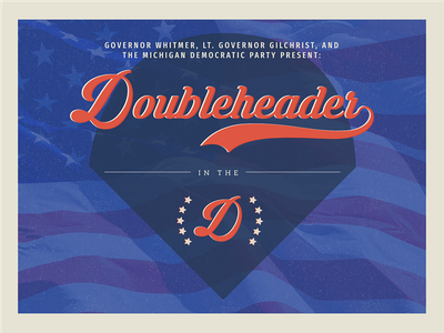 Doubleheader in the D Commemorative Poster poster design poster event design democratic democrats debates presidential race 2020 presidential race us politics advocacy political politics