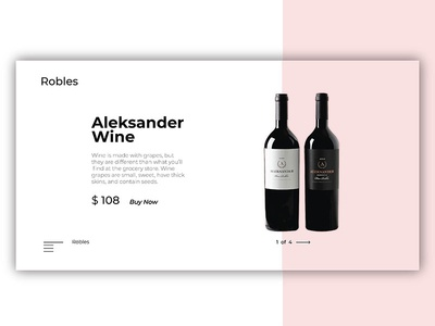 wine website concept typography illustration brand robles wine online web design ui ux shot