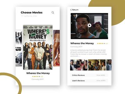 Movie app design typography minimal clean ux ui movie ios app
