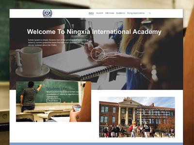 School Website clean minimal typography website school ux ui
