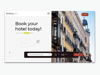 hotel booking website web ui minimal booking hotel design clean