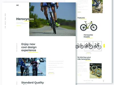 cycle website design landing page clean minimal typography website herocycle ux ui