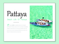 Beach life of pattaya