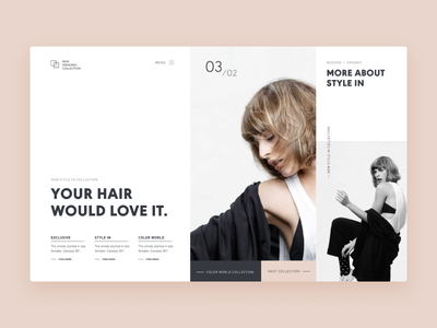 Typography UI  — Project 1 layout clean web design webdesign ui minimalistic landing page uiwebdesign typography