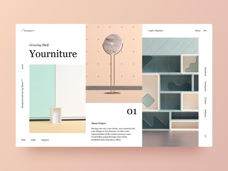 Typography UI — Project 31 ux designer minimalistic minimal clean web design website webpage webdesign page landing page interface uiwebdesign userinterface uidesign design web typography layout ui