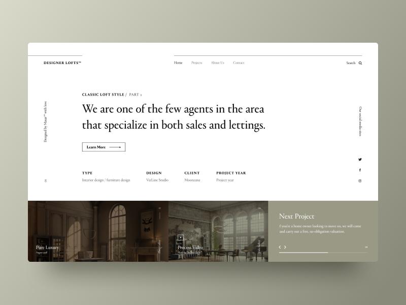 Typography UI — Project 62 ux designer minimalistic minimal clean web design website webpage webdesign page landing page interface uiwebdesign userinterface uidesign design web typography layout ui