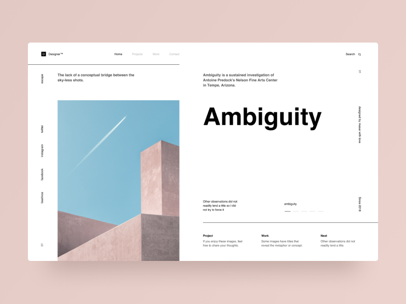 Typography UI — Project 66 minimalistic modern layout typography sketch landing page webdesign uxdesign uidesign ux ui web