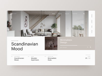 Typography UI — Project 79 ux designer minimal minimalistic clean web design website webpage page webdesign landing page interface uiwebdesign userinterface design uidesign web typography layout ui