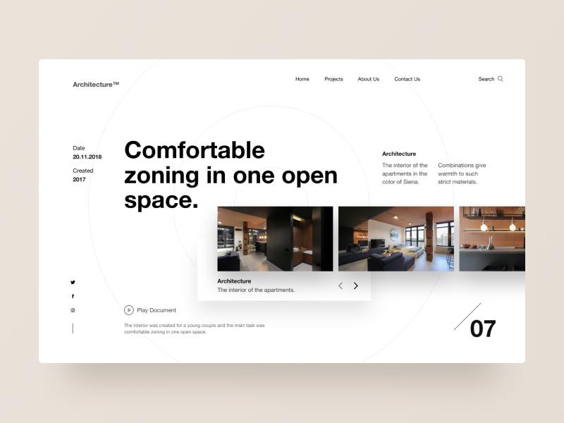 Typography UI — Project 80 ux designer minimal minimalistic clean web design website webpage page webdesign landing page interface uiwebdesign userinterface design uidesign web typography layout ui