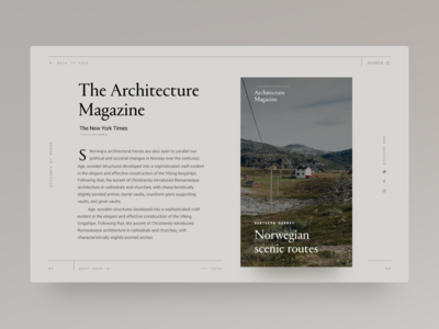 Typography UI — Project 84