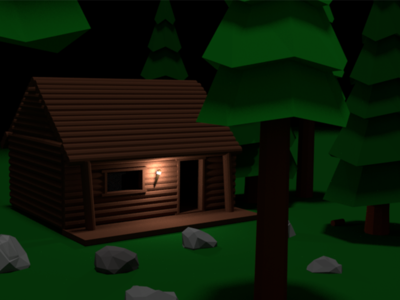 Lonsome nights models low poly 3d