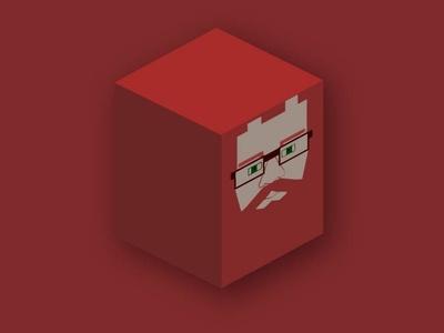 Square Head Icon illustration logo 3d