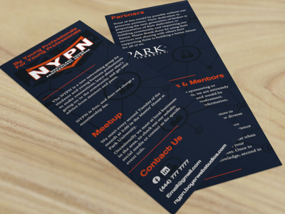 NYPN Rack Card typogaphy rack card