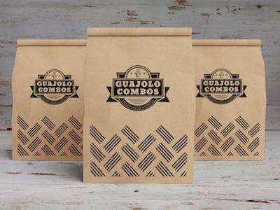 Aplicación bolsa, Guajolocombos. print branding design