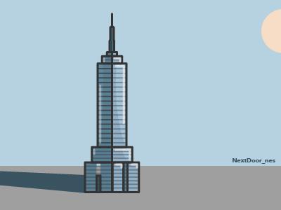 Torre Latinoamericana abstract color city icon creative cdmx mexico illustration ilustración