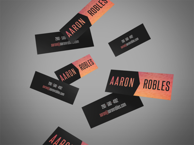 Aaron Robles Business Cards print identity design branding business cards