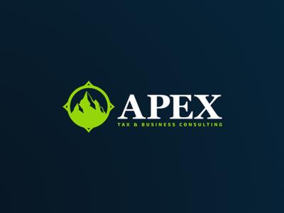 Apex Consulting consulting apex tax business logo branding identity design