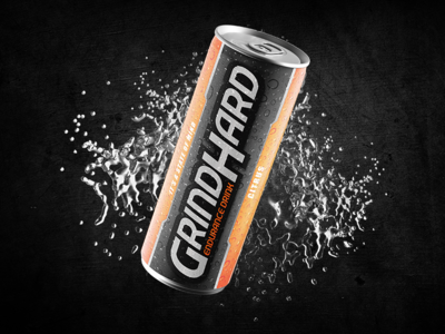 Grind Hard Endurance lifestyle can active energy drink branding design product