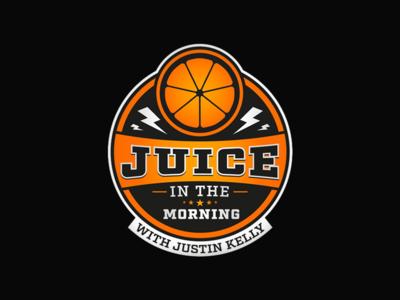 Juice In The Morning itunes podcast juice logo branding design identity