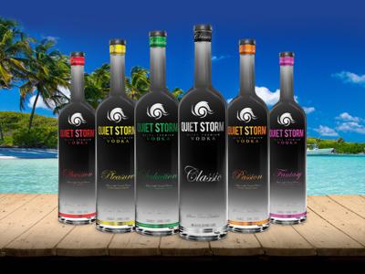 Quiet Storm Ultra Premium Vodka storm bottle liquor beach spirits vodka product identity branding