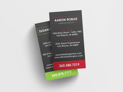 Darlington Holiday Warehouse store print cards business identity branding