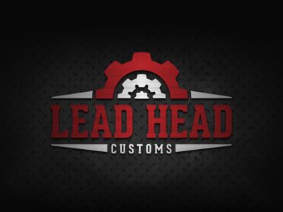 Lead Head Customs car auto automotive metal gears branding brand identity logo