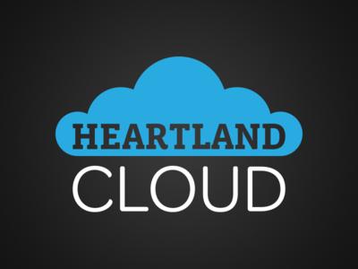 Heartland Cloud technology heartland heart cloud logo design branding brand identity