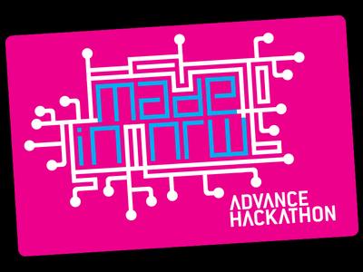 ADVANCE HACKATHON – Made in NRW logo corporate design design brand mark hackathon pink corporate