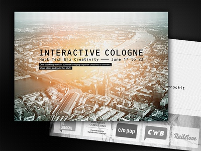 Interactive Cologne – Key Visual design brand logo key visual corporate postcard branding
