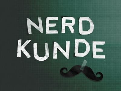 Nerdkunde – Podcast Logo logo nerds podcast moustache scribble design typographie school