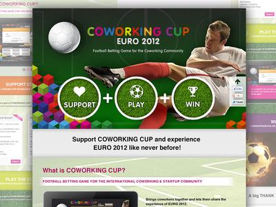 Coworking Cup – Landingpage design ui design ui landingpage launch page sponsor page landing page interface website web coworking football soccer play
