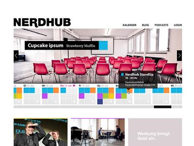 Nerdhub Homepage nerdhub calendar hub header