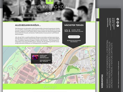 Webmontag Landingpage webmonday webmontag landingpage website homepage ui user interface screendesign