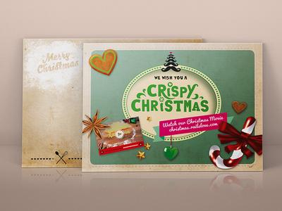 We wish you a Crispy Christmas! christmas card christmas card postcard railslove moustache