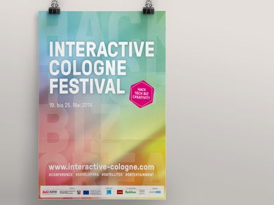 Interactive Cologne 2014 conference event poster plakat corporate design cologne