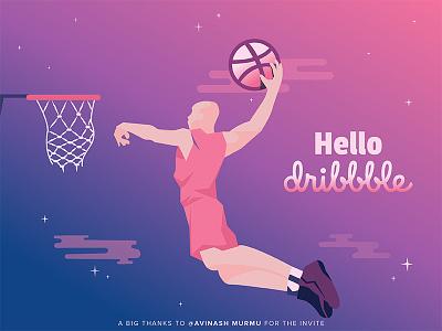 Hello Dribbble!! first shot invite design dribbble debut