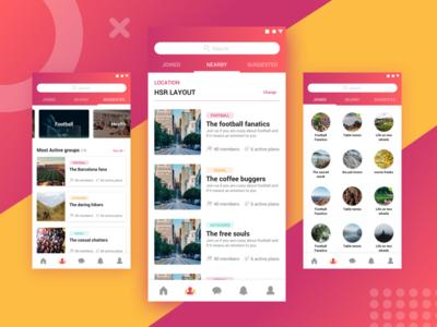 Event App - Groups exploration