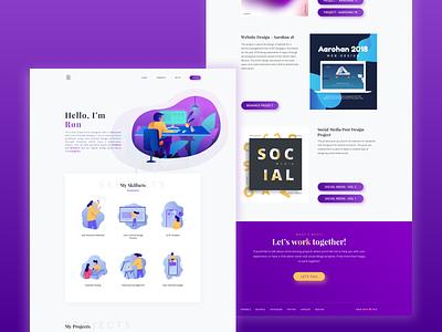 Portfolio Update webdesigner icon artwork typography personal branding work desk ux designer illustration portfolio design portfolio ux webdesign ui minimal dribbble