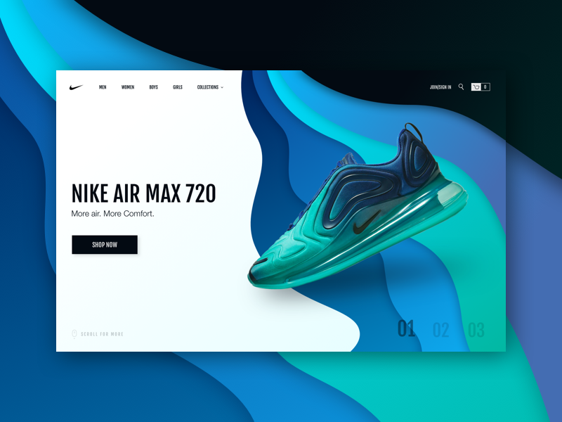 promo code 71f9c befc7 Nike Air Max - Concept gradient landing page inspiration giga colors  checkout shop store sneaker shoe