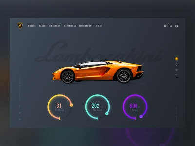 Shot time!! car booking ui store supercar grid layout typography website ux designer ui concept black dark web design webdesign landing page ecommerce lamborghini car