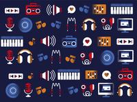 World Radio day - pattern